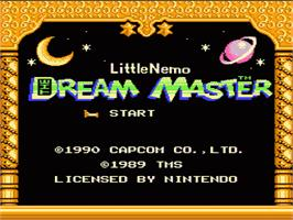 Title screen of Little Nemo: The Dream Master on the Nintendo NES.