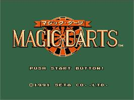 Title screen of Magic Darts on the Nintendo NES.