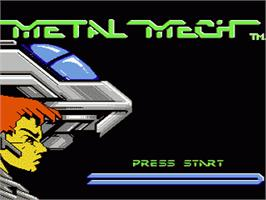Title screen of MetalMech: Man & Machine on the Nintendo NES.