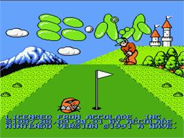 Title screen of Mini-Putt on the Nintendo NES.