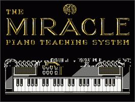 Title screen of Miracle Piano Teaching System on the Nintendo NES.