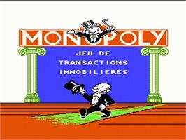 Title screen of Monopoly on the Nintendo NES.