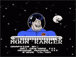 Title screen of Moon Ranger on the Nintendo NES.