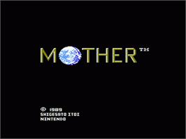 Title screen of Mother on the Nintendo NES.
