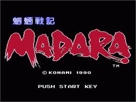 Title screen of Mouryou Senki Madara on the Nintendo NES.