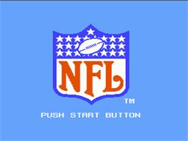 Title screen of NFL on the Nintendo NES.