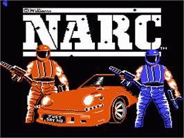 Title screen of Narc on the Nintendo NES.