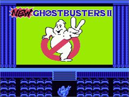 Title screen of New Ghostbusters 2 on the Nintendo NES.