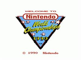 Title screen of Nintendo World Championships 1990 on the Nintendo NES.