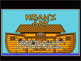 Title screen of Noah's Ark on the Nintendo NES.