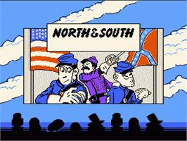 Title screen of North & South on the Nintendo NES.