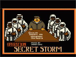 Title screen of Operation Secret Storm on the Nintendo NES.