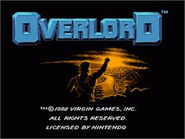 Title screen of Overlord on the Nintendo NES.