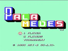 Title screen of Palamedes on the Nintendo NES.