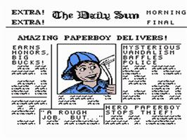 Title screen of Paperboy on the Nintendo NES.