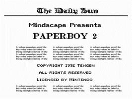 Title screen of Paperboy 2 on the Nintendo NES.