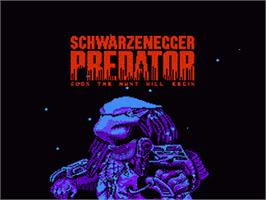 Title screen of Predator: Soon the Hunt Will Begin on the Nintendo NES.