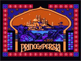 Title screen of Prince of Persia on the Nintendo NES.