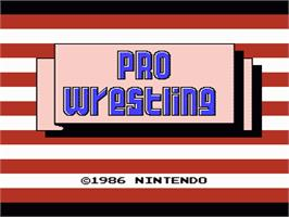 Title screen of Pro Wrestling on the Nintendo NES.