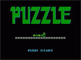 Title screen of Puzzle on the Nintendo NES.