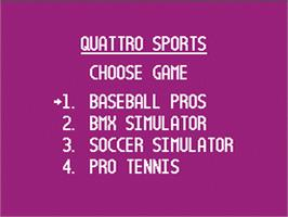 Title screen of Quattro Sports on the Nintendo NES.