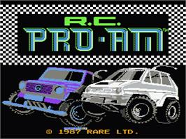 Title screen of R.C. Pro-Am on the Nintendo NES.