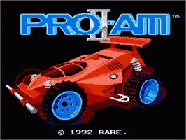 Title screen of R.C. Pro-Am 2 on the Nintendo NES.