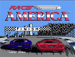 Title screen of Race America on the Nintendo NES.