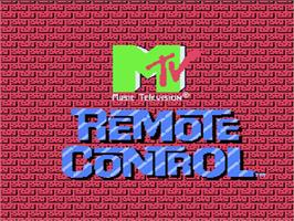 Title screen of Remote Control on the Nintendo NES.