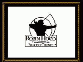 Title screen of Robin Hood: Prince of Thieves on the Nintendo NES.
