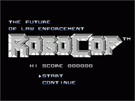 Title screen of Robocop on the Nintendo NES.