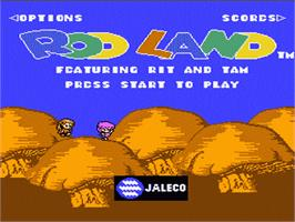 Title screen of Rodland on the Nintendo NES.