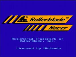 Title screen of Rollerblade Racer on the Nintendo NES.