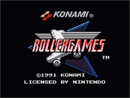 Title screen of Rollergames on the Nintendo NES.