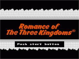 Title screen of Romance of the Three Kingdoms on the Nintendo NES.