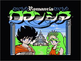Title screen of Romancia: Dragon Slayer Jr. on the Nintendo NES.