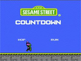 Title screen of Sesame Street Countdown on the Nintendo NES.