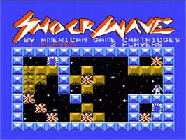 Title screen of Shock Wave on the Nintendo NES.
