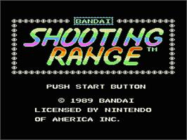 Title screen of Shooting Range on the Nintendo NES.