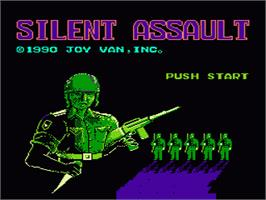 Title screen of Silent Assault on the Nintendo NES.