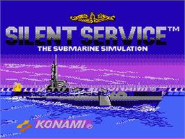 Title screen of Silent Service on the Nintendo NES.