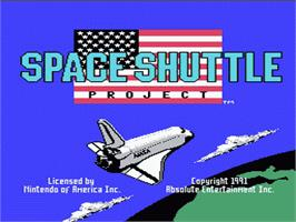 Title screen of Space Shuttle Project on the Nintendo NES.