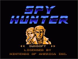 Title screen of Spy Hunter on the Nintendo NES.