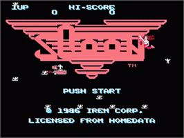 Title screen of Sqoon on the Nintendo NES.