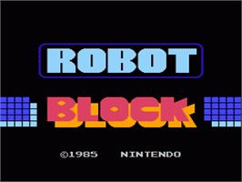 Title screen of Stack Up on the Nintendo NES.