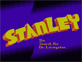 Title screen of Stanley: The Search for Dr. Livingston on the Nintendo NES.