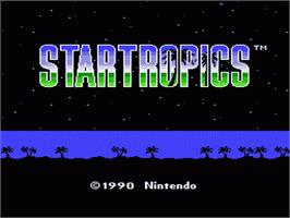 Title screen of Star Tropics on the Nintendo NES.