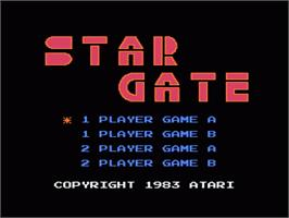 Title screen of Stargate on the Nintendo NES.