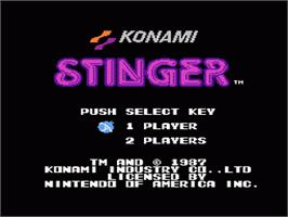 Title screen of Stinger on the Nintendo NES.