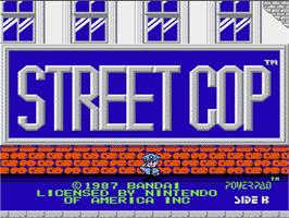 Title screen of Street Cop on the Nintendo NES.